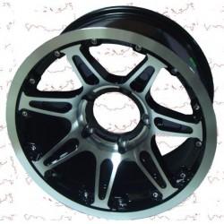 Диск колесный литой 16 (УАЗ) 16*8 ET 0 5/139.7 DIA 110.1 PATRIOT CITY-7 Глянцевый черный