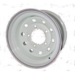 """Диск колёсный УАЗ 8*R16 ET-19 (5*139,7, d110) белый (под барабан.тормоза) """"redBTR"""""""