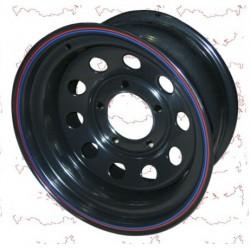 """Диск колёсный УАЗ 8*R16 ET-19 (5*139,7, d110) черный (под барабан.тормоза) """"redBTR"""""""