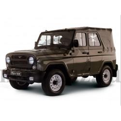 Тент УАЗ 469 Хантер (черный) (тяжелый) 850 гр