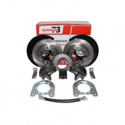 Дисковые тормоза с перфорированными дисками УАЗ задний мост Тимкен/Спайсер (универсальные) «AUTOGUR73»
