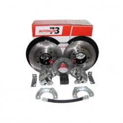 Дисковые тормоза с перфорированными дисками УАЗ задний мост Тимкен/Спайсер с суппортом ВАЗ-2112«AUTOGUR73»
