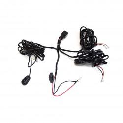 комплект проводки «REDBTR» для подключения 2-х дополнительных LED-фар / HID-ламп (с кнопкой)
